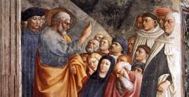 St. Peter Preaching, Masolino da Panicale (c. 1426)